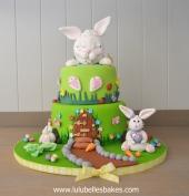 2 Tier Bunny cake