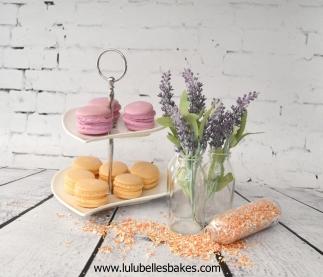 Pink and orange macarons