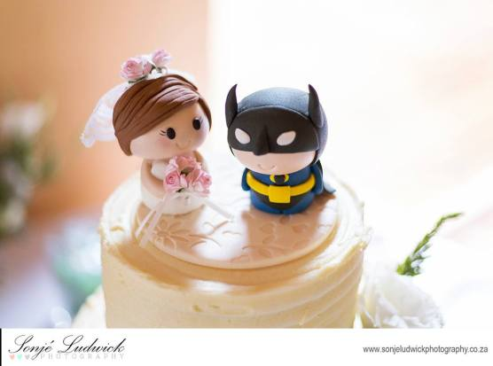 Batman and bride wedding topper