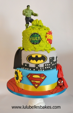 3 Tier Superhero Cake