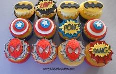 Superhero cupcakes