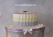 Ombre petal iced cake