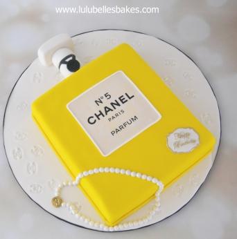 Chanel No. 5 cake