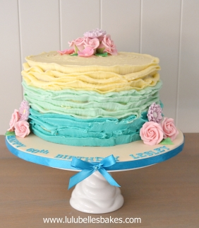 Buttercream ruffles
