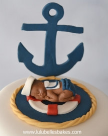 Sleeping nautical baby