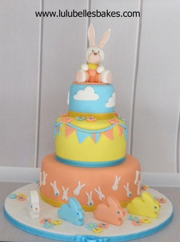 Bunny, clouds and bunting