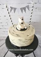 Monochrome polar bear