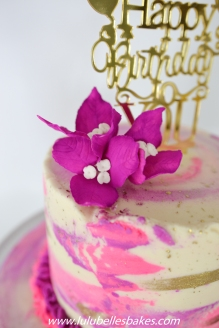 Bougainvillea sugar flower cake