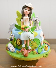 Teacher cake with animals