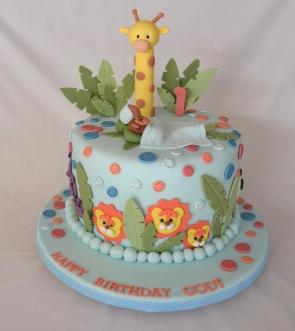 1 tier jungle cake