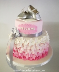 Ballet ruffle cake