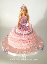 Buttercream ruffle barbie cake