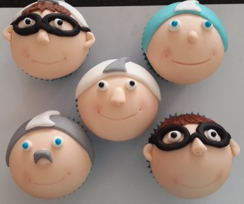 Diver cupcakes