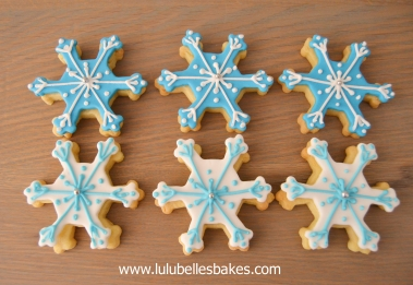 Frozen / snowflake biscuits