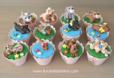 Playful dog cupcakes