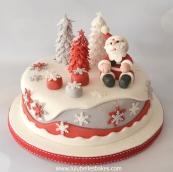 Santa and trees