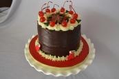 Chocolate ganache and cherries