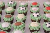 Ball game cupcakes
