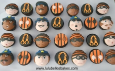 Cops and Robbers cupcakes