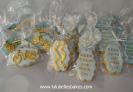 Bike themed biscuits