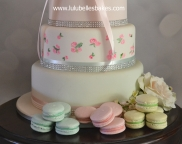 Lime green and pastel pink and green macarons