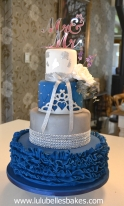 Navy and silver wedding