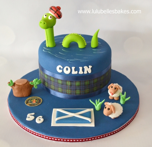 Loch Ness Monster Cake Topper