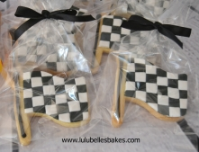Racing flag biscuits