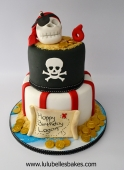 2 tier pirate cake