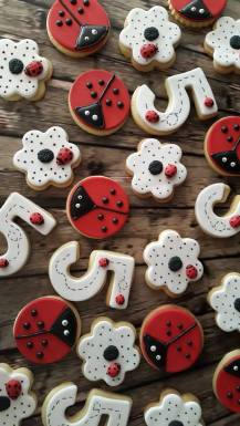 Lady Bird themed biscuits
