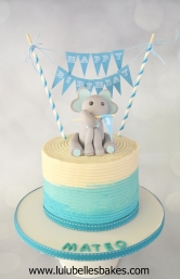 Elephant and bunting