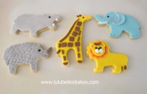 Jungle animal biscuits