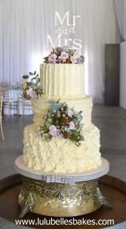 Buttercream ridge vertical, horizontal and rose swirls