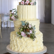 Buttercream ridge vertical, horizontal and rose swirls