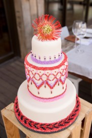 African beaded cake