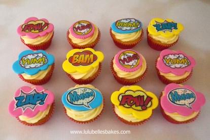 Supergirl cupcakes