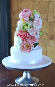 3 Tier with silk flowers