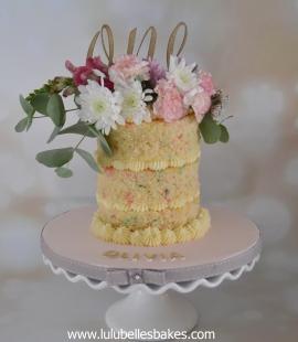 Naked sprinkle cake