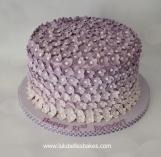 Purlple ombre flower cake