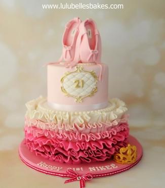 Ballet themed cake