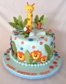1 tier jungle cake