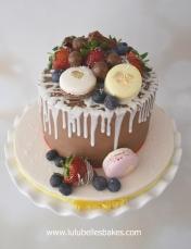Macarons and fresh berries