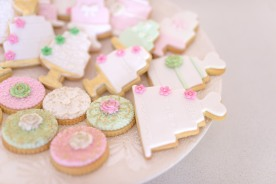 Wedding themed biscuits