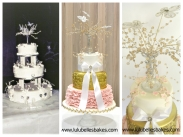 Original wedding cake, and 60th wedding cake with similar cake topper