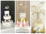 Original wedding cake, and 60th wedding cake with similar cake topper