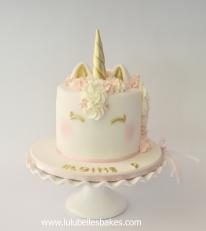 Elegant pastel shades unicorn