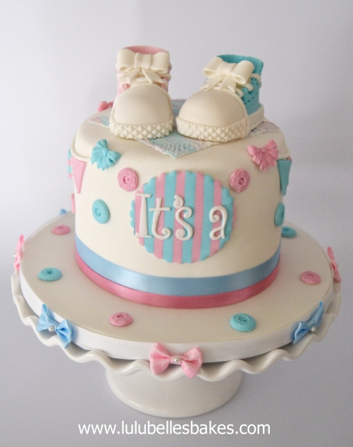 Gender And Baby Reveal Cakes