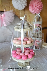 Grey and ombre pink macarons