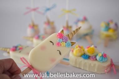 Unicorn Cakesickles