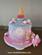 Ice cream drip cake